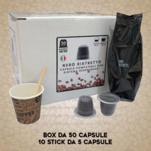 Compatibili Nespresso* Nero Ristretto 50 Capsule