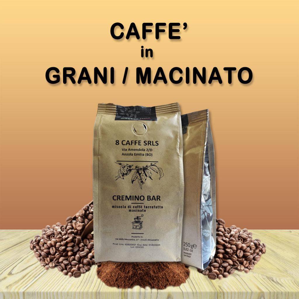 capsule compatibili 8 caffè Tasto link per caffè in grani e macinato