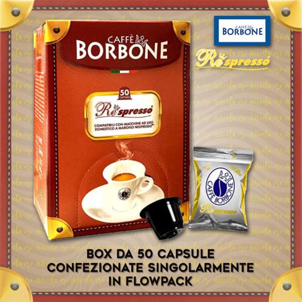 Compatibili Nespresso Borbone Oro 50 Caps
